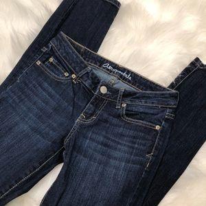 Aeropostale Bayla Skinny Jeans Dark Wash, Size 0